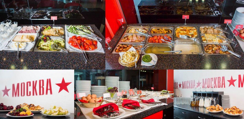 Шведский стол в ресторане «Москва»